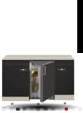 Kitchenette Faro Antraciet 130cm met koelkast HRG-133_