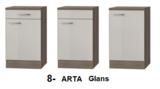 Kitchenette 210cm Wit Hoogglans incl. 2-pit kookplaat, koelkast en afzuigkap HRF-4602_