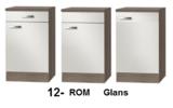 Kitchenette Rood Hoogglans met koelkast en kookplaat 150cm HRG-400_