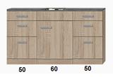 Kitchenette 160cm incl rvs spoelbak RAI-922_