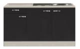 Kitchenette Faro Antraciet 150cm HRG-7330_