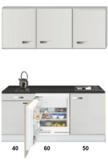 Kitchenette 150cm met inbouw koelkast van 60cm RAI-1555_