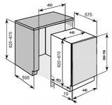 Inbouw vaatwasser 45cm breed Domest EGSP191E A++ RAI-228_