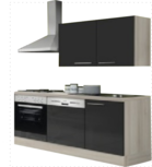 Kitchenette 180 antraciet hoogglans incl all apparatuur RAI-052