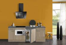 keukenblok 210 met inbouw koelkast, magnetron en 4-pit inductie kookplaat RAI-302