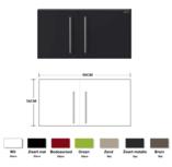 Metalen wandkast zwart mat 90cm RAI-834