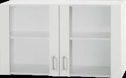 Bovenkast Klassiek 60 Wit met glas 100cm x 35 cm OPTI-36