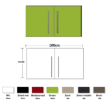 Metalen wandkast groen 100cm RAI-835