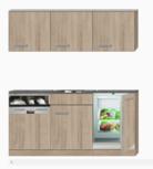Kitchenette 180cm incl inbouw koelkast en vaatwasser RAI-2020
