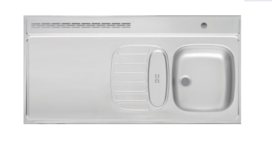 RVS aanrechtblad opleg 120cm x 60cm RAI-386