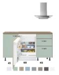 Kitchenette 150cm met inbouw koelkast 60cm breed RAI-2323