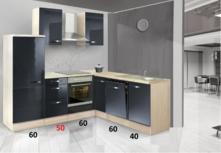 L-keuken antraciet glans 260x200cm CHI-9180