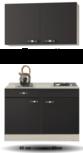 Keukenblok Antraciet 120cm mety wandkasten RAI-511