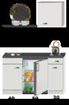 Kitchenette 120 met koelkast, kookplaat en een wandkast 60cm RAI-5959