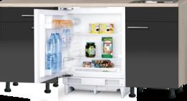 keukenblok 150cm Antraciet Glans incl. inbouw koelkast RAI-3900