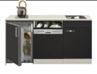 Kitchenette Faro Antraciet met koelkast en vaatwasser 150cm HRG-5395