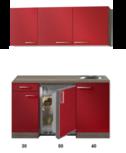Kitchenette Rood Hoogglans 120cm HRG-5395
