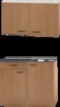 Keukenblok Beuken 100 x 50 diep met spoelbak en bovenkast RAI-41035