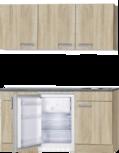 Kitchenette Neapels 150cm met wandkasten, koelkast en kookplaat HRG-081