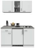 keukenblok 150cm met koelkast wit mat incl wandkasten RAI-999