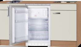Kitchenette 150 cm cream incl koelkast ARG-224