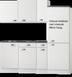 Kitchenette 190cm Lagos wint glans incl inbouw koelkast RAI-301