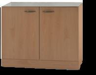 Keukenblok Klassiek 50 Beuken zonder RVS aanrecht OPTI-69