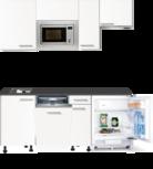 keukenblok 190 Wit mat incl koelkast, kookplaat, afzuigkap en magnetron RAO-808