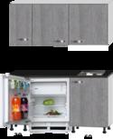 kitchenette 140cm incl inbouw koelkast en kookplaat RAI-349