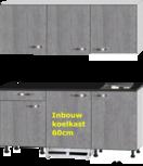 kitchenette 180cm incl inbouw koelkast en kookplaat RAI-433