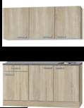 Keukenblok 150cm Neapel houtnerf RAI-003