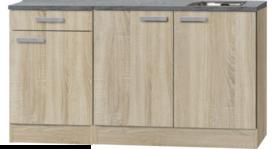 Keukenblok 150 cm houtnerf RAI-329