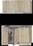 kitchenette 130 houtnerf incl koelkast en e-kookplaat RAI-3322