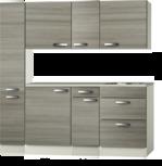 keukenblok 180cm incl apothekerskast en spoelbak RAI-991