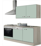 Kitchenette 180 groen zijdeglans incl all apparatuur RAI-053
