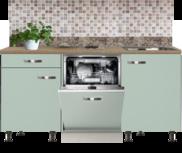 Rechte keuken 180cm met inbouw vaatwasser en kookplaat RAI-432
