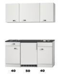 Kitchenette 130 CM incl koelkast, kookplaat en wandkasten RAI-2255