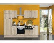 Kitchenette Elba 270 cm replica beuken inclusief ingebouwde hoge koelkast