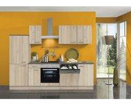 Keukentje Elba 270 cm replica beuken - replica beuken inclusief inbouwapparatuur
