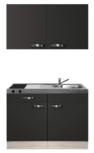 Keukenblok 120cm met rvs aanrechtblad en wandkasten RAI-591