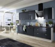 Rechte keuken 280cm zwart glans incl inbouw apparatuur RAI-8321