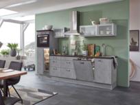Rechte keuken 280cm beton look incl inbouw apparatuur RAI-4481