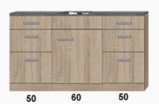 Kitchenette 160cm incl rvs spoelbak RAI-922