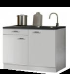 keukenblok 120 x 60 cm met een la + RVS spoelbak RAI-4412