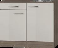 Keukenblok 100cm Beige met spoelbak RAI-441