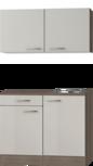 Keukenblok 100cm Beige met spoelbak en wandkasten RAI-442