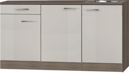 Keukenblok 150cm Beige met spoelbak RAI-442