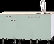 Keukenblok 150 cm groen RAI-925