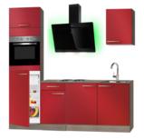 kitchenette 210cm met koelkast en afzuigkap RAI-3372