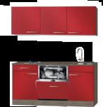 Kitchenette 180 cm met vaatwasser en kookplaat HRG-585
